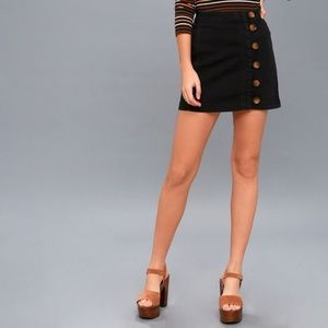 Free people little daisies front button mini skirt